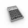 calculator with word business - isolated 3d illustration