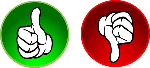 Vektor Button  Top und Flop