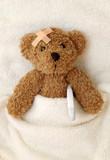 Teddy bear ill poster