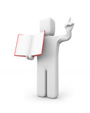 Person hold book
