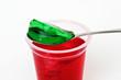 Roter und Grüner Wackelpudding