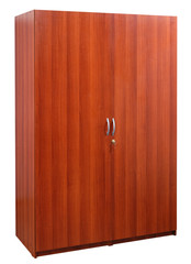 Two door closet. Clipping path