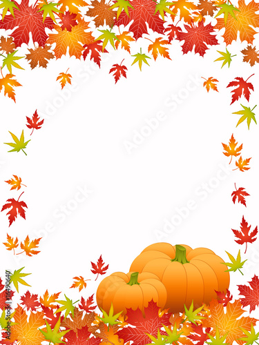 Halloween card with pumpkins (set1)