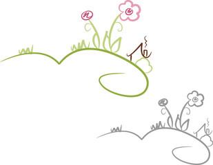 Naturlandschaft: Haus und Garten auf dem Land