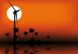 énergie éolienne sur une île