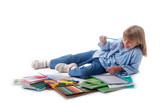 Rentrée des classes - Enfant et fournitures neuves poster