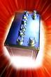 Leinwanddruck Bild - Automotive 12-volt battery