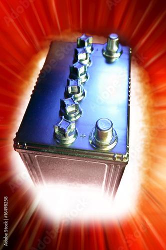 Leinwanddruck Bild Automotive 12-volt battery