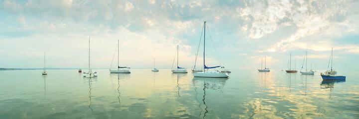 Morning sea - panoramic view