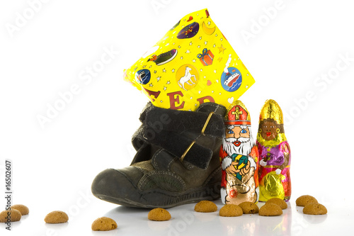 Shoe with a present - 'Sinterklaas' - a dutch tradition