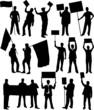 Demonstration People 2 - black silhouette