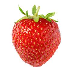 Reife Erdbeere auf weiß