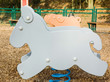 donkey shaped game in children playground