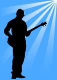 Electro bass poster