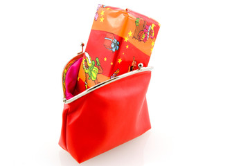 Red wallet with Sinterklaas present