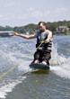 Wild ride on a kneeboard