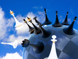 chess global war on earth against the sky poster