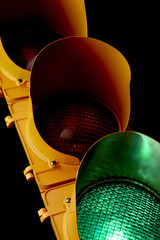 Traffic light-Illuminated Green