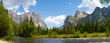canvas print picture - A panaromic view of Yosemite Valley