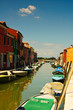 Canal of the Burano island, Venice, Italy