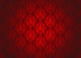 Luxury red ornamental pattern