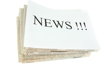 set of newspapers with word news
