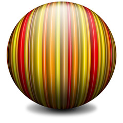 Sfera a Righe-Ray Globe-Sphere à Rayures-Verticale
