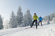 Leinwandbild Motiv sportlich langlaufen