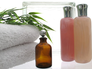 Spa Scene with bottles