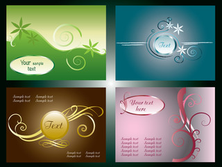 Four business cards