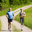 Mature couple doing sport - jogging