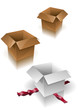 Boxes vector illustration.