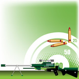Rifle with scope poster