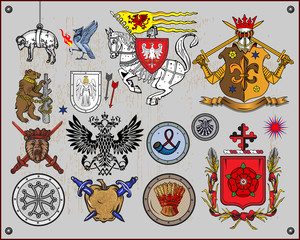 Heraldic elements - 3