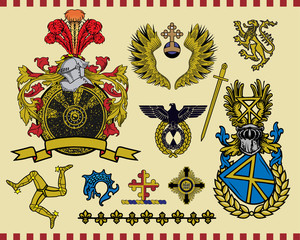 Heraldic elements set 16