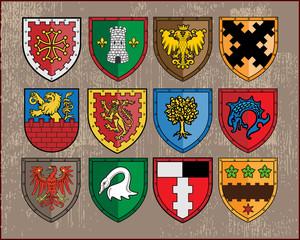 Heraldic elements - shields