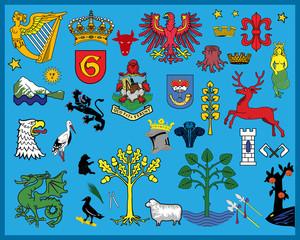 Heraldic elements - various