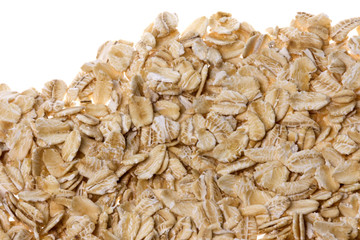 Oats Macro Isolated
