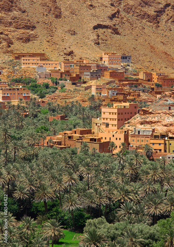 village among Moroccan hills