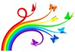 Rainbow butterflies - 16550850
