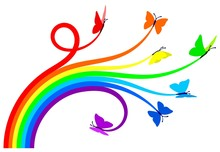 Regenbogen Schmetterlinge