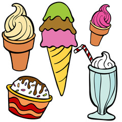Ice Cream Food Items