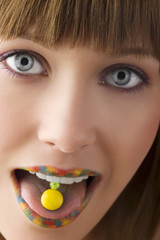 the candy on tongue