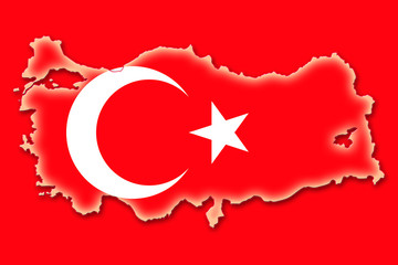 turkey türkei flag fahne shape umriss