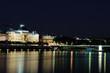 Lyon, les facultés, nuit, France