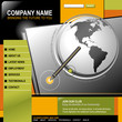 Business Globe Pen Internet Web Design Template