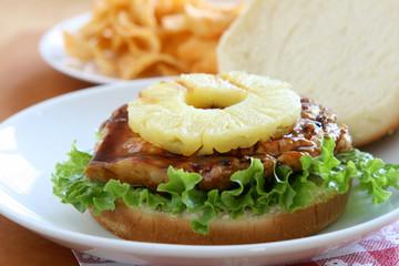 Chicken Pineapple Burger