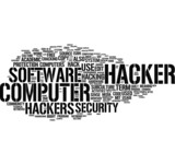 Hacker word cloud poster