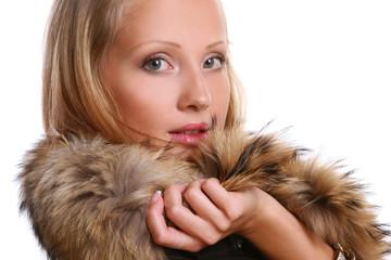 ellegant beautiful woman in studio