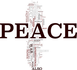 Peace tag cloud